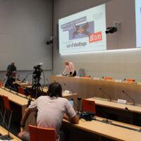 Jagdgesetz NEIN: Medienkonferenz der Parteien in Bern